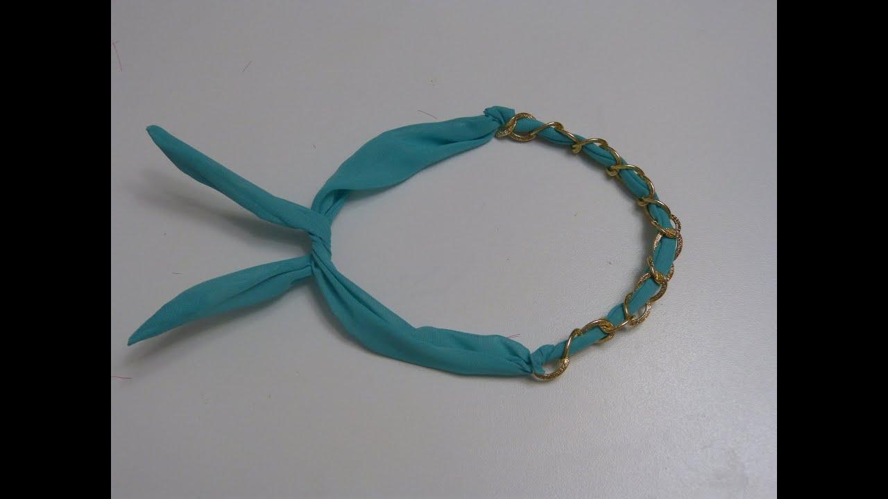 Diademas de tela con alambre paso a paso for Diademas de tela para el cabello