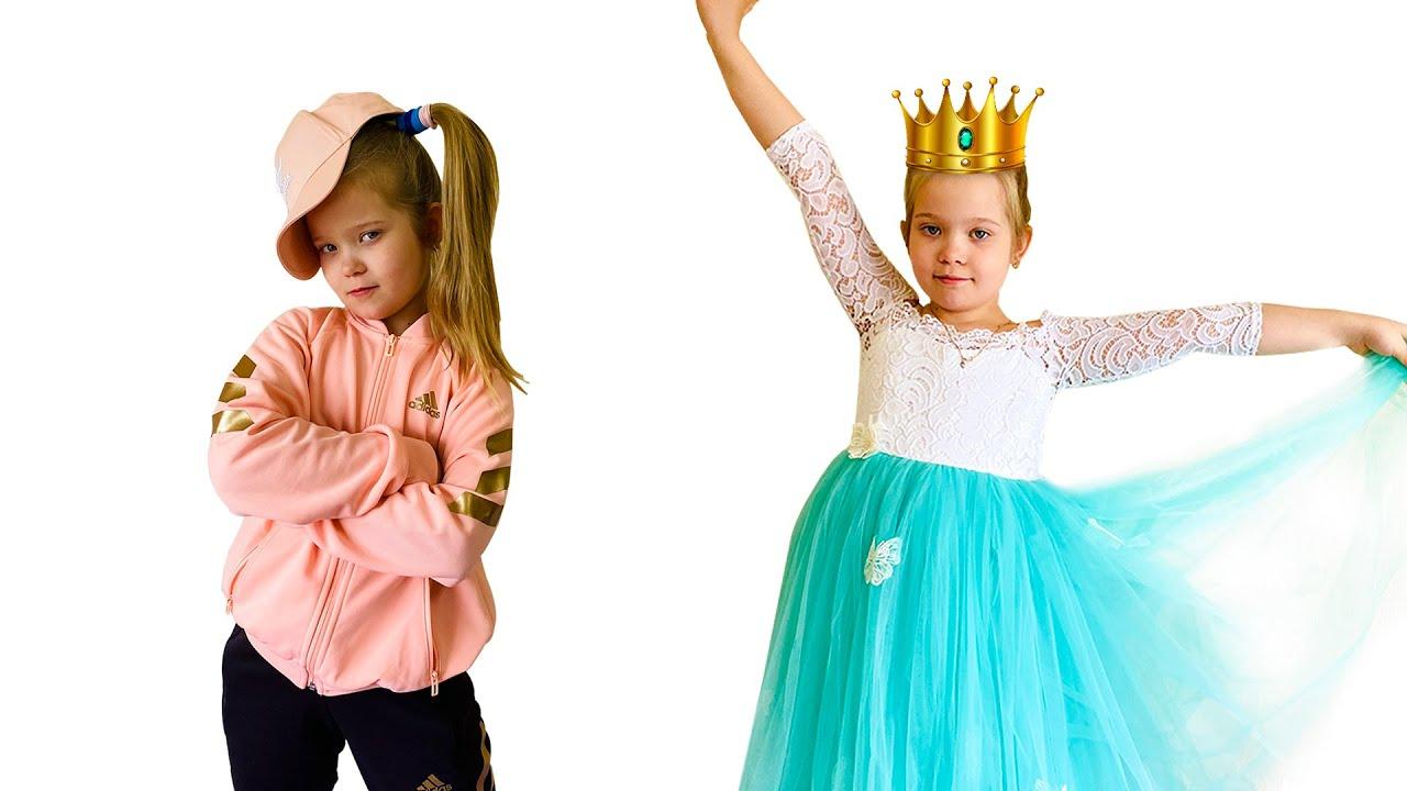 Лера и мама учат правила для принцессы