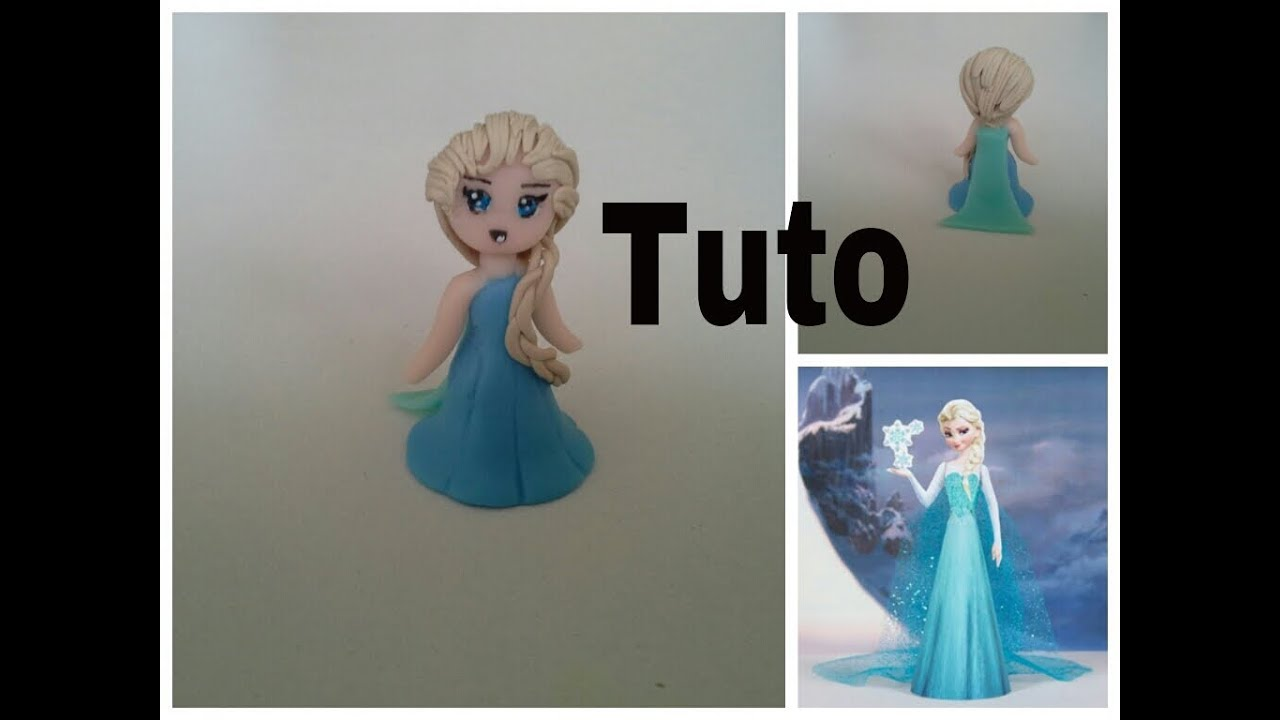 tuto fimo elsa dans la reine des neige polymer clay elsa frozen youtube. Black Bedroom Furniture Sets. Home Design Ideas