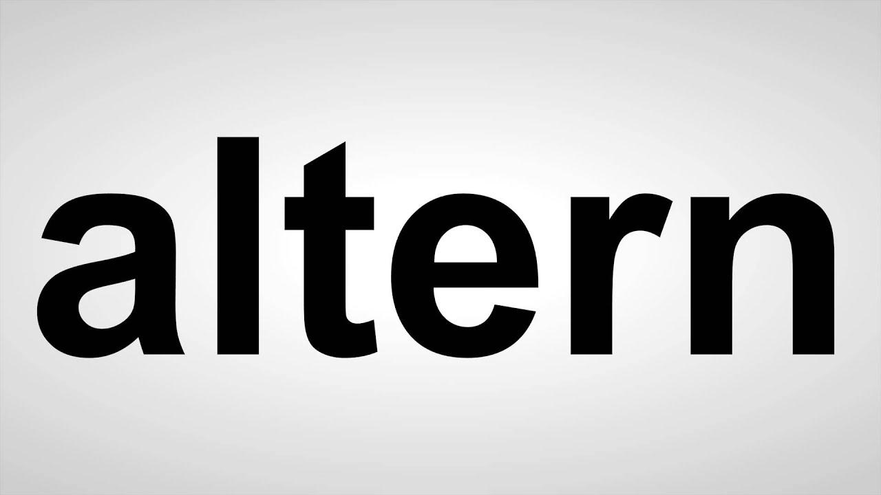 altern - Deutsche Aussprache - YouTube