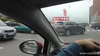 Autofahren lernen A12: Rückwärts einparken (quer parken) - Teil 2/2