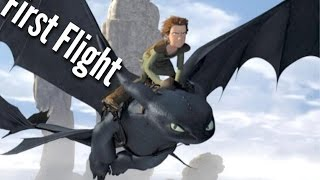 DREAMWORKS How To Train Your Dragon - Hiccup & Toothless - First Flight Scene