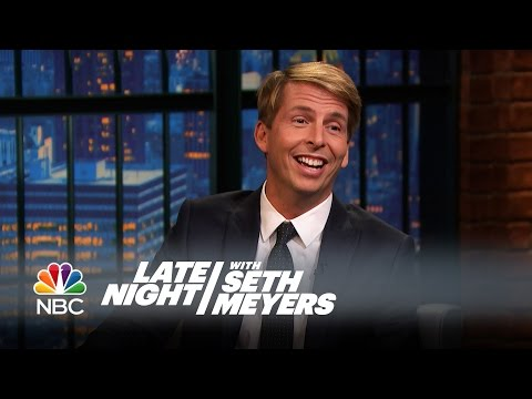 Jack McBrayer Hit Mariah Carey in the Face with a Frisbee  Late Night with Seth Meyers