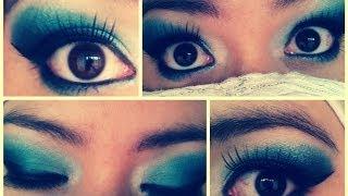 Maquillaje Arabe azulado