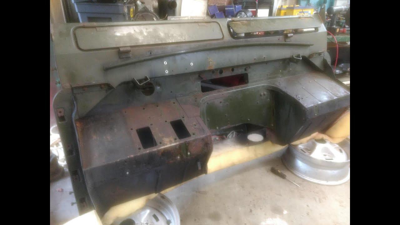 Land Rover Series 2a 88 Part 1  Bulkhead Work