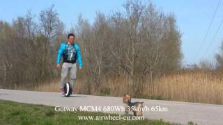 Gotway MCM4 680Wh 35km h 65km speed test www.airwheel-eu.com
