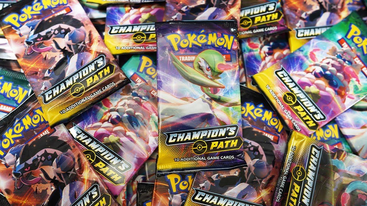 Opening 75x Pokemon Champion's Path Booster Packs!