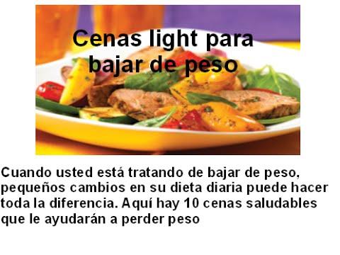 Cenas light para bajar de peso youtube - Cenas saludables para bajar de peso ...