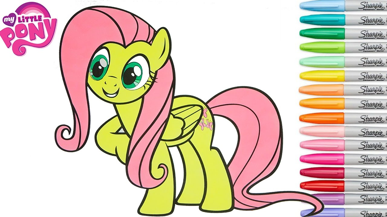 my little pony coloring book pages fluttershy mlp rainbow splash