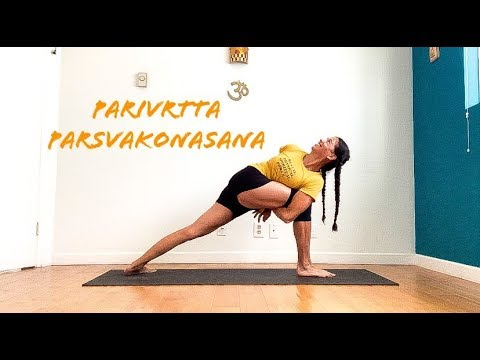 all levels revolved side angle pose parivrtta parsvakonasana with shana meyerson YOGAthletica