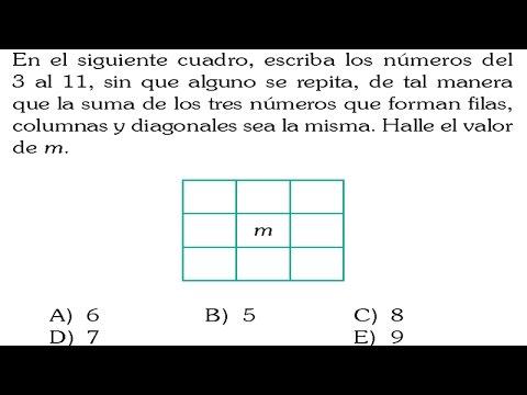 CUADRADOS MÁGICOS DE 3×3-SOLUCIÓN-SAN MARCOS-EXAMEN-ADMISION ...