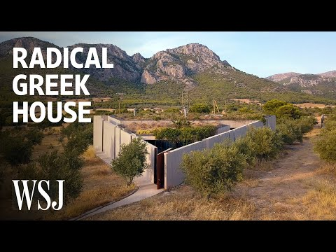 How This Radical House in Greece Brings the Outdoors Inside   WSJ