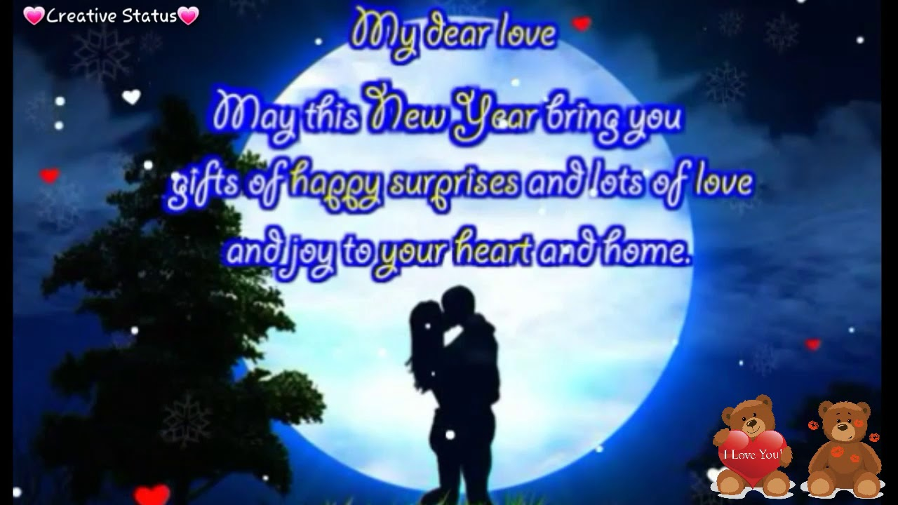 happy new year 2018 in a romantic way wish ur gf bf in romantic way new year 2018 status