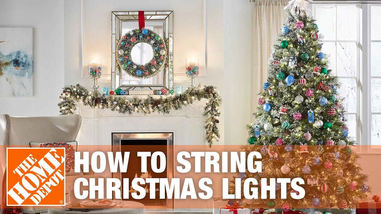 how to string lights on a christmas tree - How To String Lights On A Christmas Tree