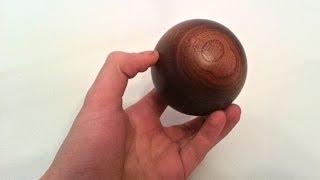 Turning a Walnut Sphere
