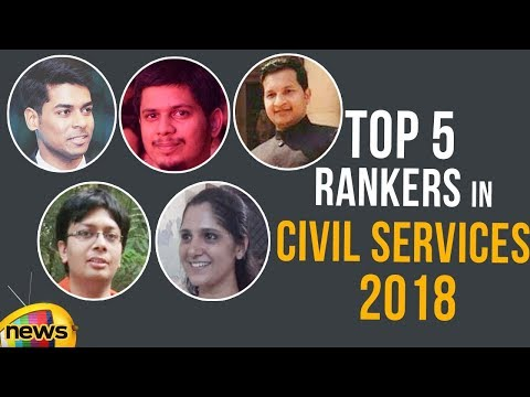 Top 5 Rankers In Civil Services 2018  Mango News