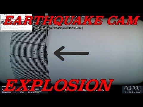 Earthquake Cam - Lincoln, Nebraska Explosion . 8.15.2017 ( 地震ウェブカメラ )