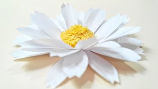 Gambar cover Chamomile, daisy paper flower diy tutorial.Paper flowers easy for children, for kids,for beginners