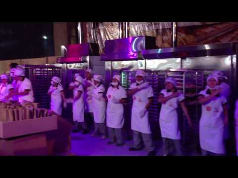 Bakers dancing in Mistura Food Festival in Lima
