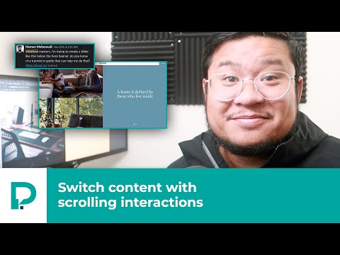 How to Webflow: Switch content with scrolling interactions - Tutorial (2019) thumbnail