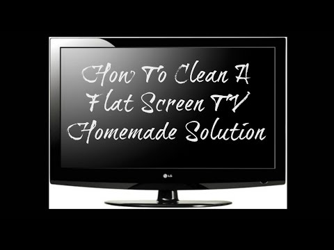DIY flatscreen TV cleaner