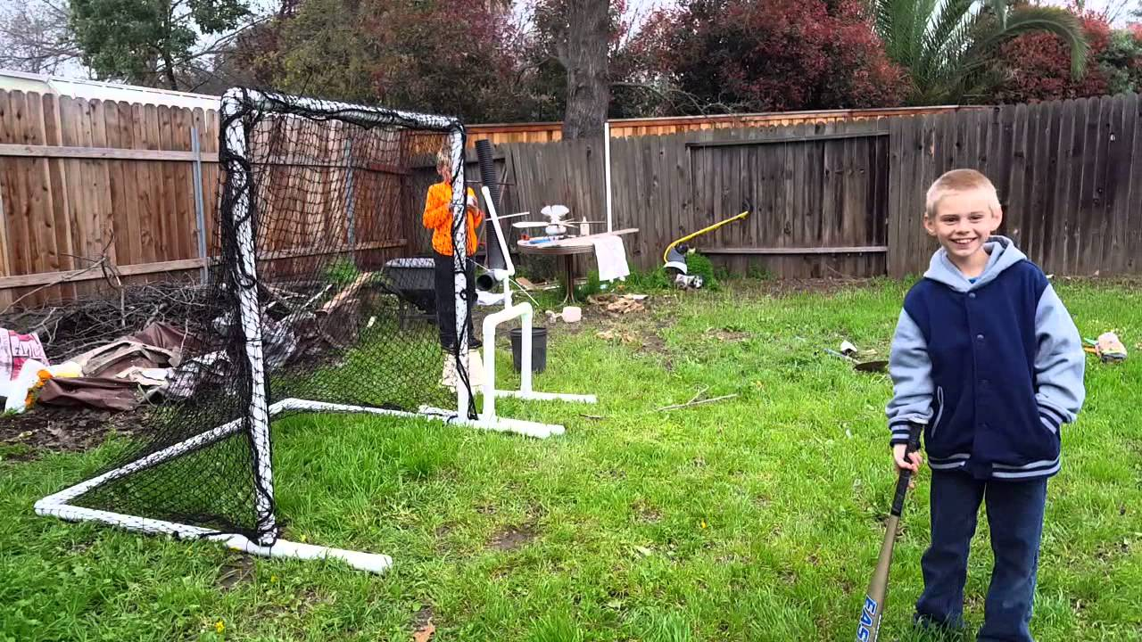 easy batting cage and pitching machine youtube