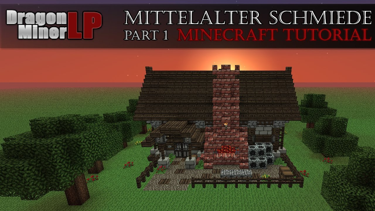 Minecraft Schmiede Bauen Tutorial Part GermanHD YouTube - Minecraft mittelalter haus bauen german