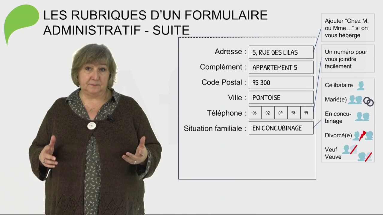 Mooc Afpa Cuisine | Completer Un Formulaire Administratif Mooc Fle Afpa Youtube