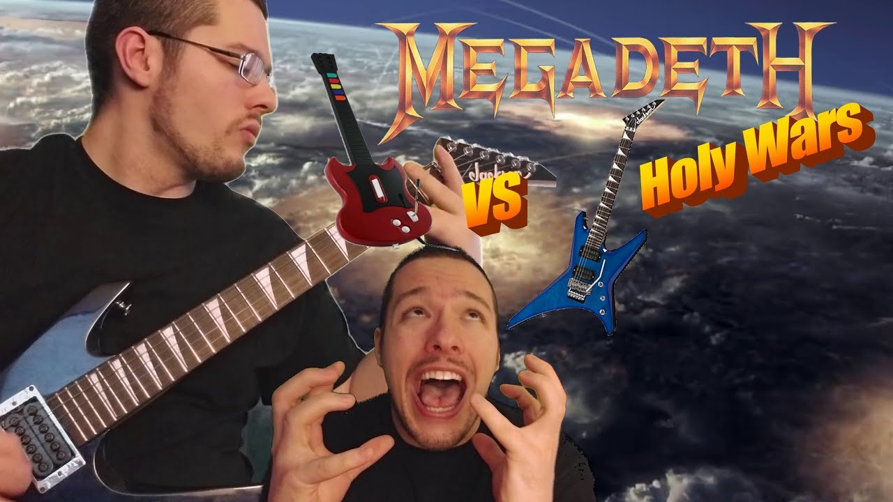 HOLY WARS GUITAR COVER GREEN SCREEN AND LIP SYNC VS