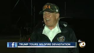 President tours CA devastation
