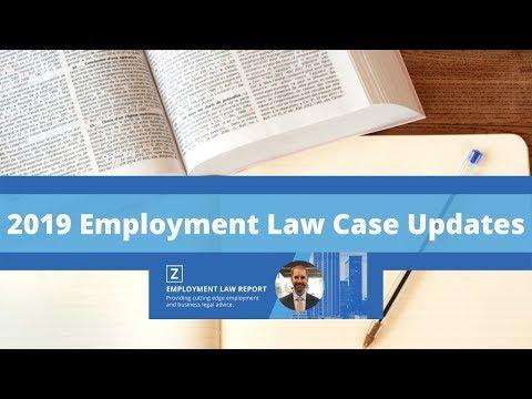 2019-employment-law-case-updates