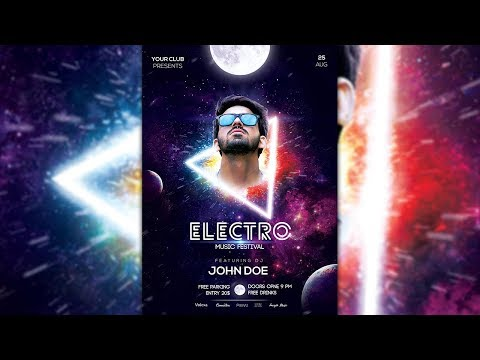 How to Design Electro Music Party Flyer/Poster in Photoshop