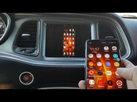 Uconnect 8 4 Wireless Phone Mirroring Iphone / Android - YouTube
