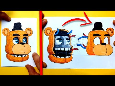 CREATE YOUR FNAF ANIMATRONICS - 7 COOL Five Nights at Freddy's DIY IDEA CHALLENGE | You cant hide