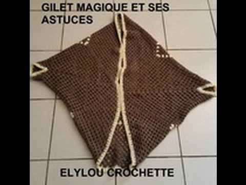 Tuto Crochet Les Astuces Pour Réaliser Un Gilet Magique Facile Crochet Tutorial Magic Vest