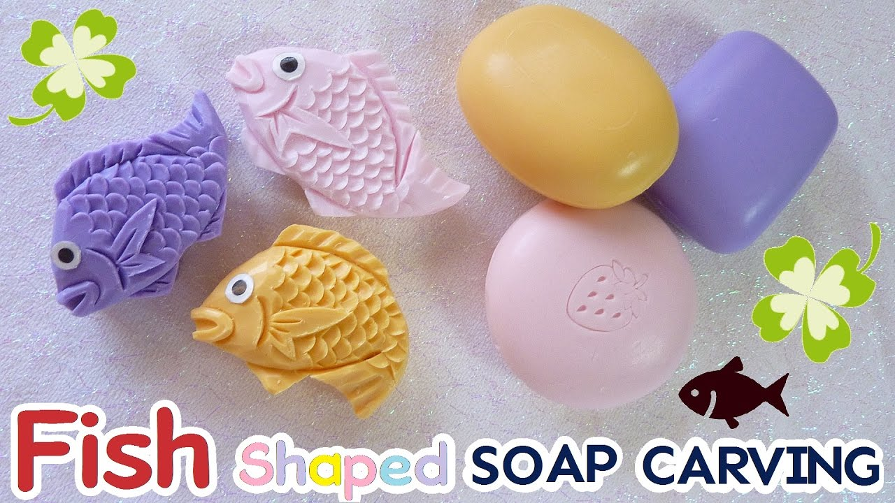 Soap carving|easy fish shaped tutorial how to