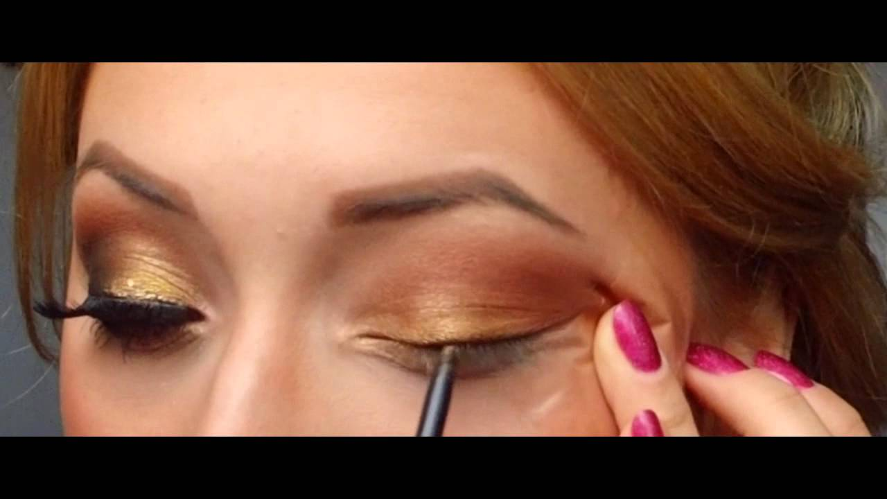 Smoky Golden Makeup Look (Greek Goddess inspired ...