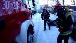 Oczami strażaka - Pożar w budynku wielorodzinnym w na ul. Ogrodowej w Białymstoku 2017 Video