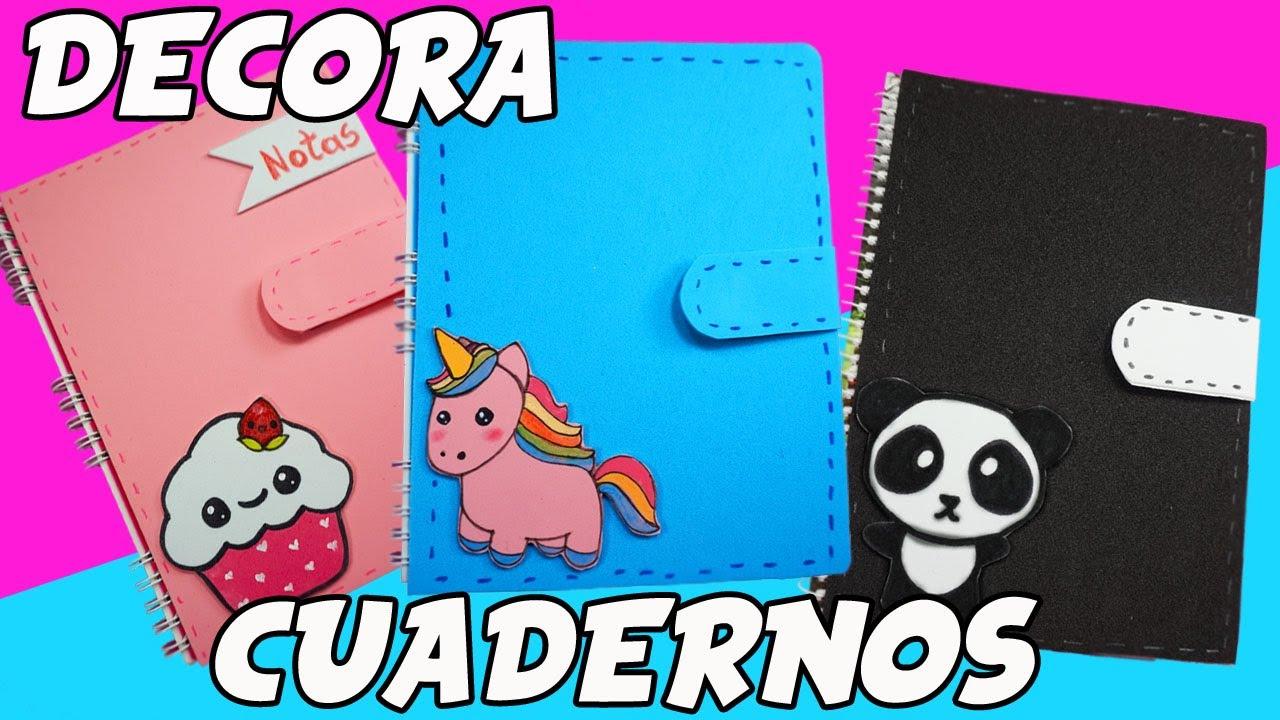 Ideas De Portadas Para Cuadernos Decorar Libretas Con: Decora Tus Cuadernos!