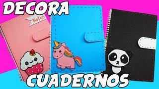 ♡ ¡Decora Tus Cuadernos! - 3 Ideas ♡