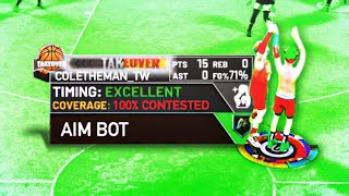 I UNLOCKED AIMBOT in NBA 2K20! HOW TO GREEN 100% SMOTHERED SHOTS!