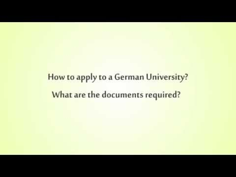 How to apply to German University?