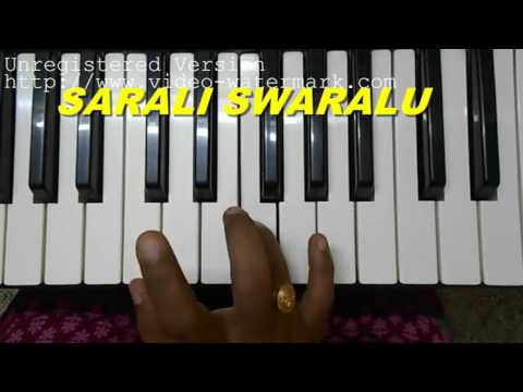 How To Play Sarali Swaralu On Keyboard