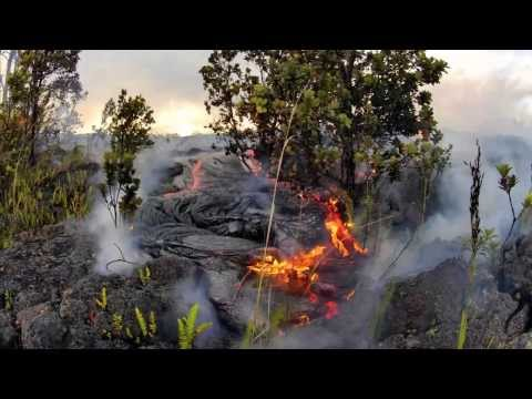 6-13-13-lava-flow-hawaii-kilauea-volcano-lava-flow-gopro-hero-2-time-lapse