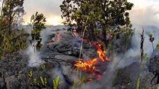 6 13 13 Lava Flow Hawaii Kilauea Volcano Lava Flow GoPro Hero 2 Time Lapse