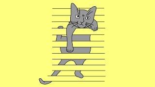 How to draw illusion with cat | Как нарисовать иллюзию с кошкой(How to draw illusion with cat | Как нарисовать иллюзию с кошкой | Wie Illusion mit Katze zu zeichnen | Як намалювати ілюзію з кішкою., 2015-01-21T04:38:00.000Z)