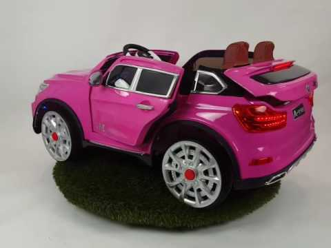 kinder accu auto beemer x6 roze metallic 12v 2 persoons. Black Bedroom Furniture Sets. Home Design Ideas