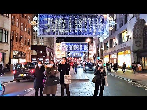 London Christmas Lights 2020   Walking Oxford Street