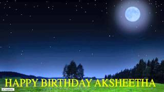 Aksheetha  Moon La Luna - Happy Birthday