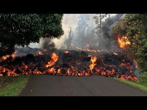 На Гавайях вулканическая